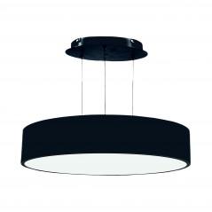 Paviršinis / pakabinamas ant trosų apvalus LED šviestuvas 70W Juodas  - 1