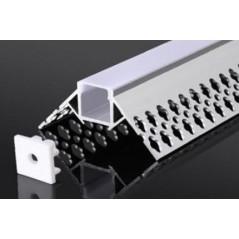 Užglaistomas LED profilis BN-N 3000mm su matiniu sklaidytuvu  - 1