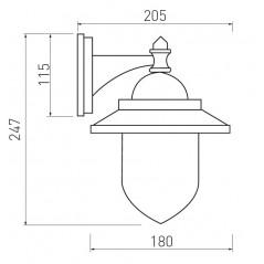 Sieninis šviestuvas TOSKANA-AD, 1xE27