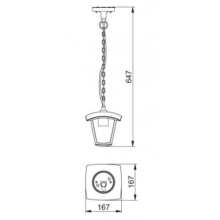 Lubinis pakabinamas šviestuvas MARINA-H, 1xE27