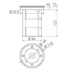 Grindinio šviestuvas ALFA-O, GU10, IP67, IK10