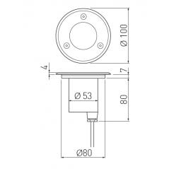 Grindinio šviestuvas ALFA-O-MINI, GU10, IP67, IK10