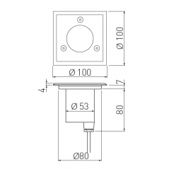 Grindinio šviestuvas ALFA-K-MINI, GU10, IP67, IK10