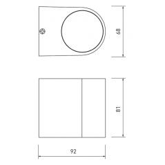 Sieninis šviestuvas TIAGO 1, Plieno spalvos 1xGU10  - 1