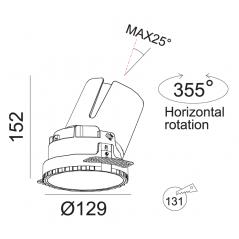 Priglaistomas reguliuojamas LED šviestuvas LUCENT R1303 30W, 000K, 40°