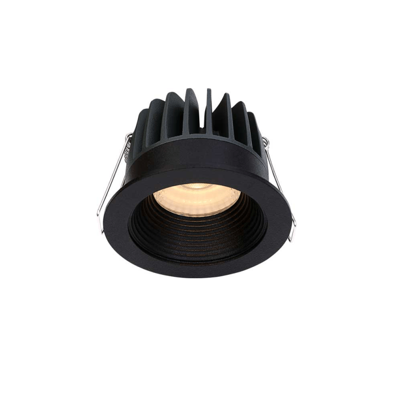 Įmontuojamas LED šviestuvas GABRIEL R1362 Juodas, 6W, 3000K, 36°, IP44  - 1