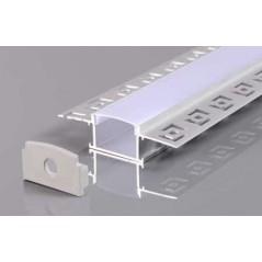 Užglaistomas LED profilis BN-P 3000mm su matiniu sklaidytuvu  - 1