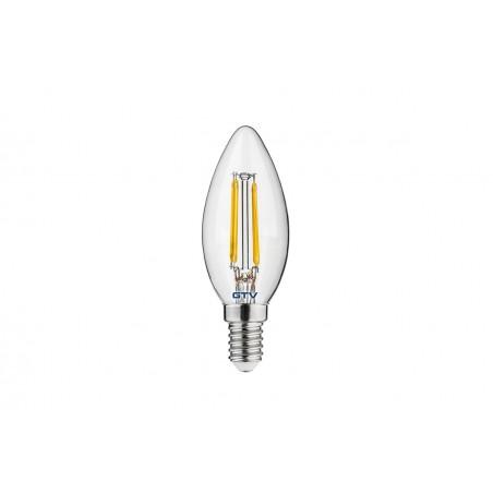 Filamentinė LED lempa E14 4W 3000K  - 1